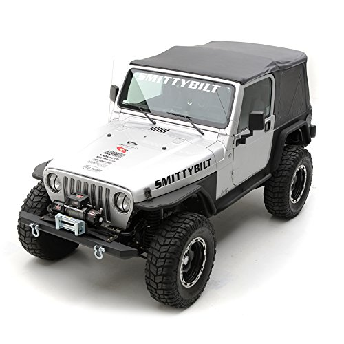 Smittybilt-9970235-Black-Diamond-OE-Style-Replacement-Top-with-Tinted-Window-for-Jeep-Wrangler-0-3