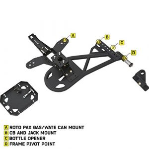 Smittybilt 76857 XRC/SRC Gen2 Bolt-On Tire Carrier
