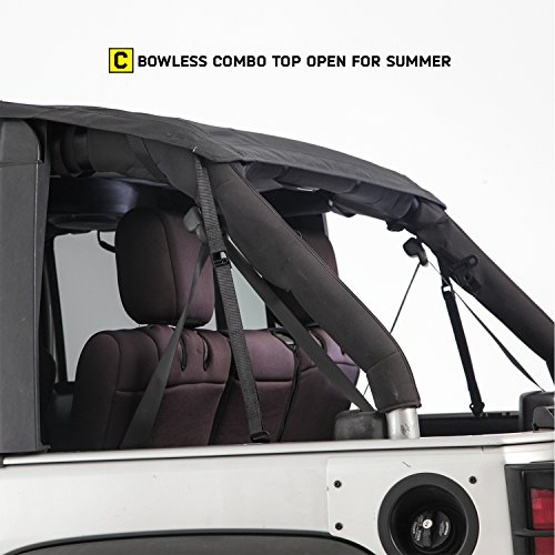 Smittybilt-9083235K-black-Bowless-Combo-Top-Kit-WTinted-Windows-Black-Diamond-Jeep-07-17-Wrangler-Jk-4-Door-1-Pack-0-2