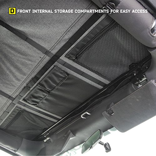 Smittybilt-9083235K-black-Bowless-Combo-Top-Kit-WTinted-Windows-Black-Diamond-Jeep-07-17-Wrangler-Jk-4-Door-1-Pack-0-3
