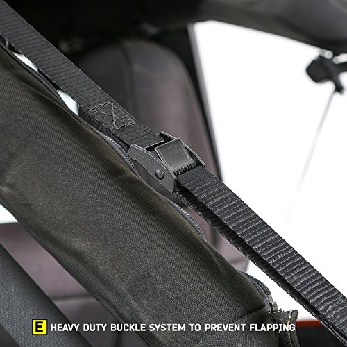 Smittybilt-9083235K-black-Bowless-Combo-Top-Kit-WTinted-Windows-Black-Diamond-Jeep-07-17-Wrangler-Jk-4-Door-1-Pack-0-4