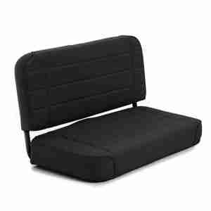 Smittybilt Standard Rear Seat for 1981-1995 Jeep CJ5 / CJ7 / CJ8 Scrambler / Wrangler YJ - Black Denim