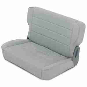 Smittybilt Fold & Tumble Rear Seat for 1976-1995 Jeep CJ5 / CJ7 / CJ8 Scrambler / Wrangler YJ - Gray Denim