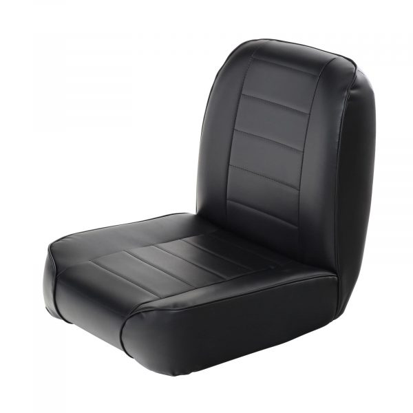 Smittybilt Standard Front Bucket Seat for 1955-1977 Jeep CJ5 / CJ7 - Black Vinyl