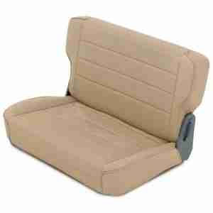 Smittybilt Fold & Tumble Rear Seat for 1976-1995 Jeep CJ5 / CJ7 / CJ8 Scrambler / Wrangler YJ - Denim Spice