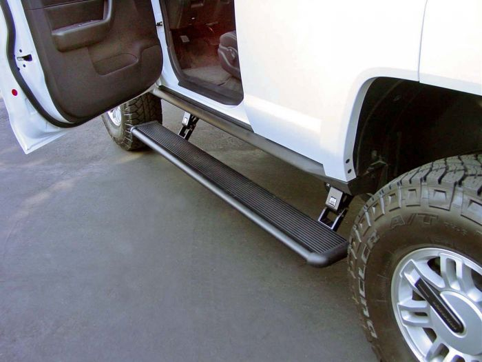 Electric Running Boards >> Amp Research 75116 01a Powerstep Electric Running Boards For 2009 2019 Hummer H3t